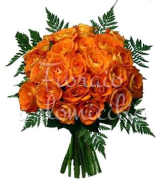 Fiori a domicilio   Bouquet di rose arancio