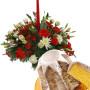 Fiori a domicilio  Centrotavola natalizio con Pandoro