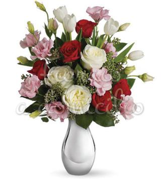 Fiori a domicilio: bouquet di roselline dai toni delicati
