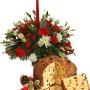 Fiori a domicilio |Centrotavola natalizio con Panettone