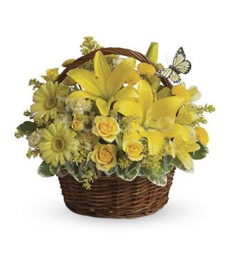 cesto-di-fiori-misti-gialli