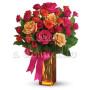 Fiori a domicilio: bouquet di rossellini dai toni caldi