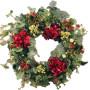 Fiori a domicilio |Ghirlanda di Natale con ortensie